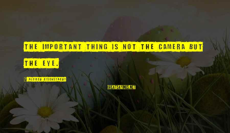 1 Year Old Funny Birthday Sayings By Alfred Eisenstaedt: The important thing is not the camera but the eye.