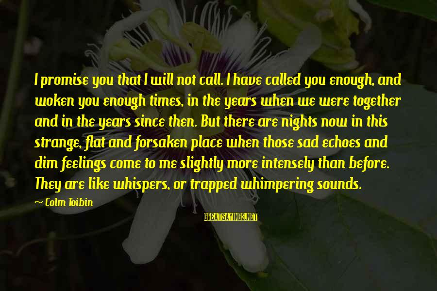 2 Years Of Togetherness Sayings By Colm Toibin: I promise you that I will not call. I have called you enough, and woken