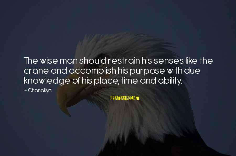 21 Best Military Movie Sayings By Chanakya: The wise man should restrain his senses like the crane and accomplish his purpose with