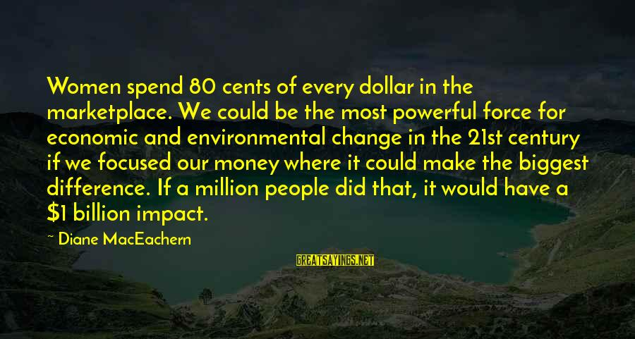 A Dollar Sayings By Diane MacEachern: Women spend 80 cents of every dollar in the marketplace. We could be the most