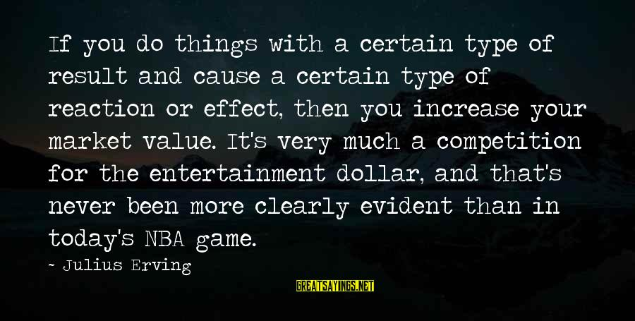 A Dollar Sayings By Julius Erving: If you do things with a certain type of result and cause a certain type