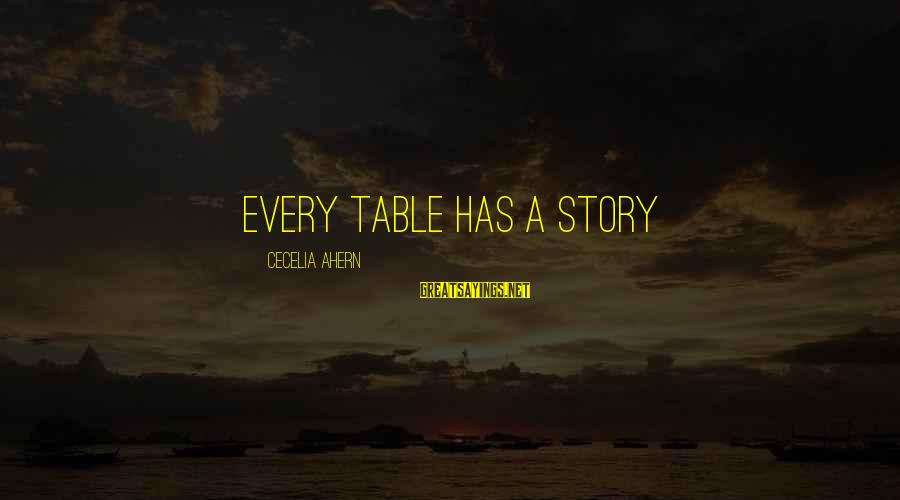 A Hundred Names Sayings By Cecelia Ahern: Every table has a story