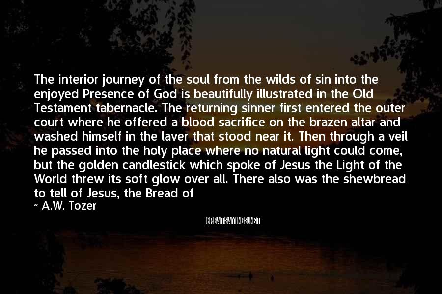 A.W. Tozer Sayings: The interior journey of the soul from the wilds of sin into the enjoyed Presence
