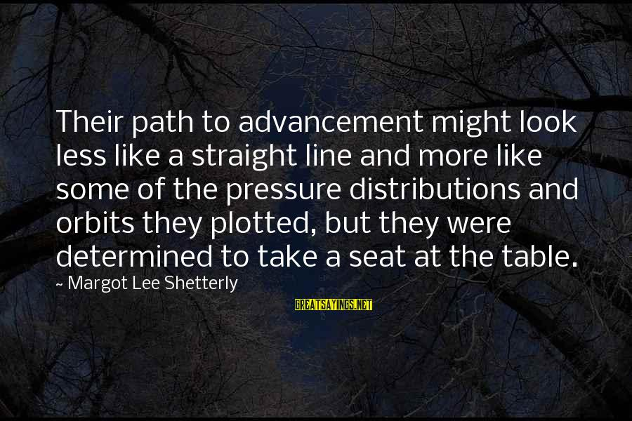 Advancement Sayings By Margot Lee Shetterly: Their path to advancement might look less like a straight line and more like some