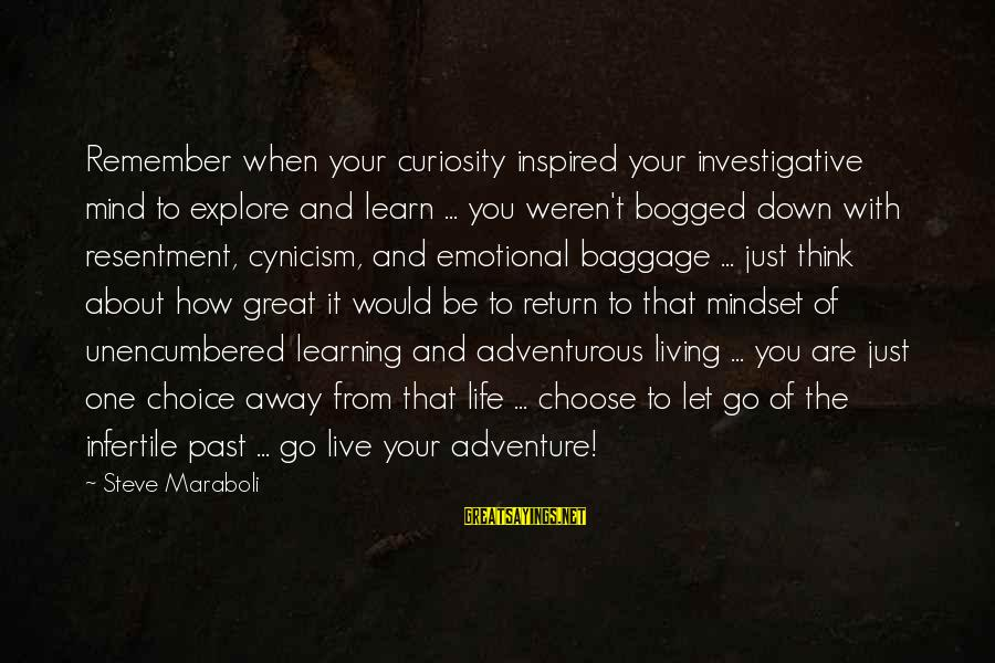 Adventure And Curiosity Sayings By Steve Maraboli: Remember when your curiosity inspired your investigative mind to explore and learn ... you weren't