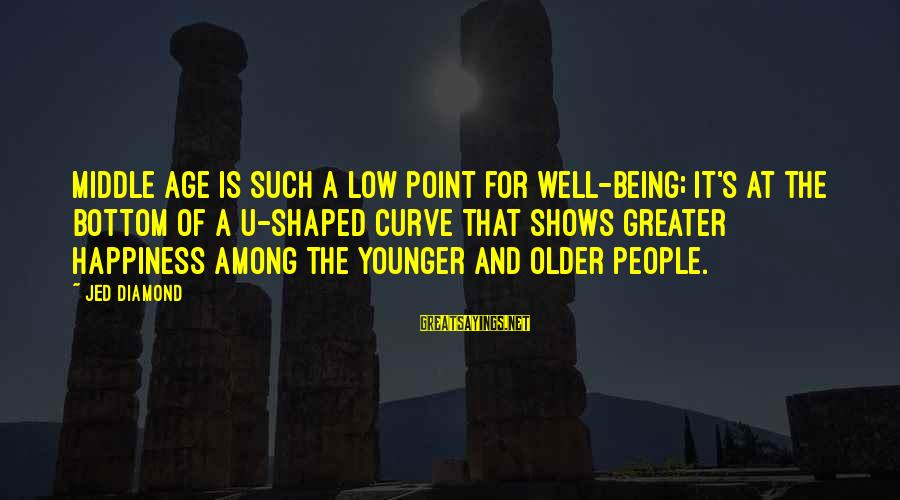 Age And Happiness Sayings By Jed Diamond: Middle age is such a low point for well-being; it's at the bottom of a
