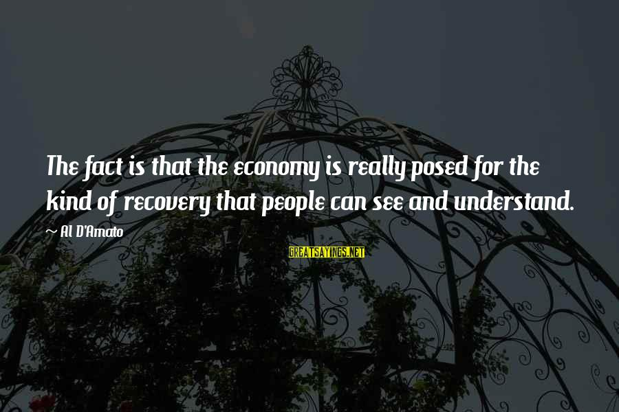 Al D'amato Sayings By Al D'Amato: The fact is that the economy is really posed for the kind of recovery that