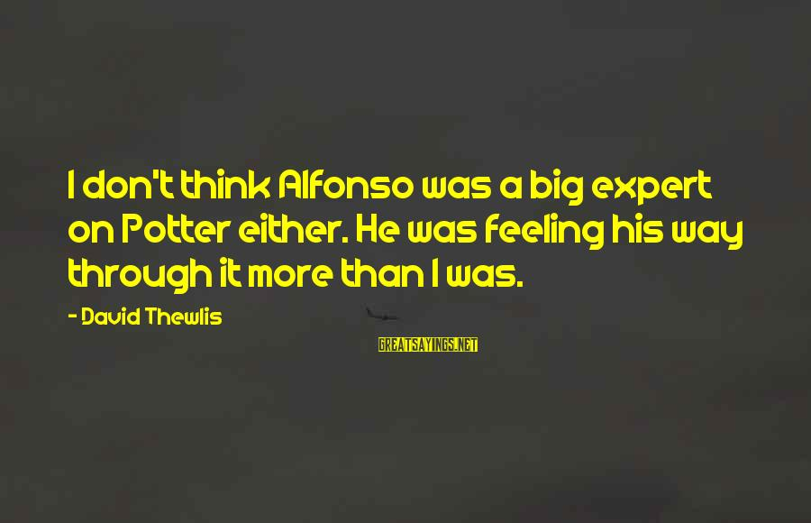 Alfonso X Sayings By David Thewlis: I don't think Alfonso was a big expert on Potter either. He was feeling his