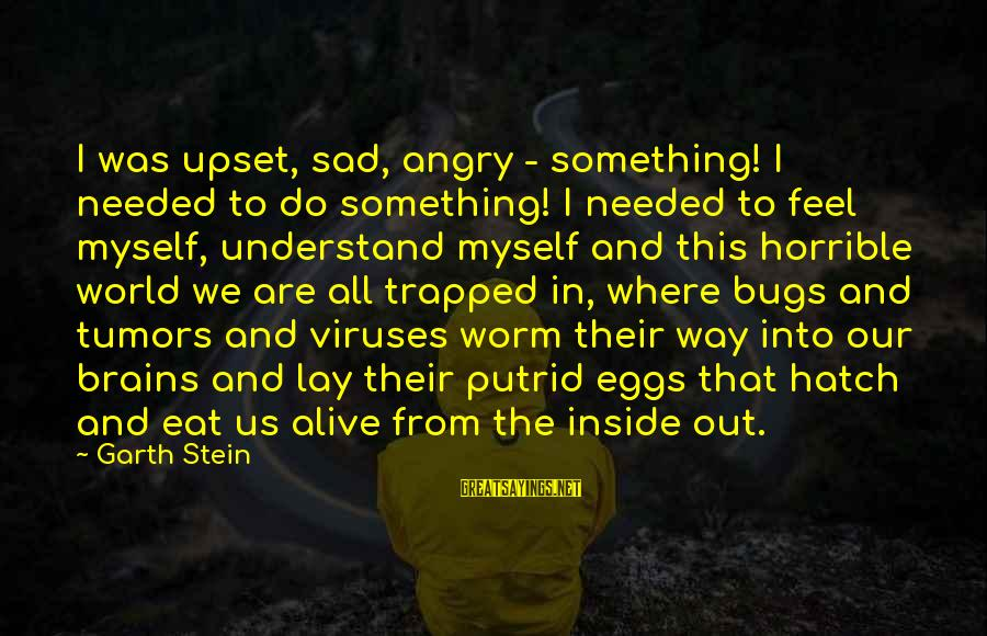 Alive Inside Sayings By Garth Stein: I was upset, sad, angry - something! I needed to do something! I needed to