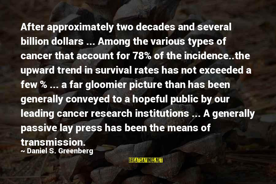 All Types Of Picture Sayings By Daniel S. Greenberg: After approximately two decades and several billion dollars ... Among the various types of cancer