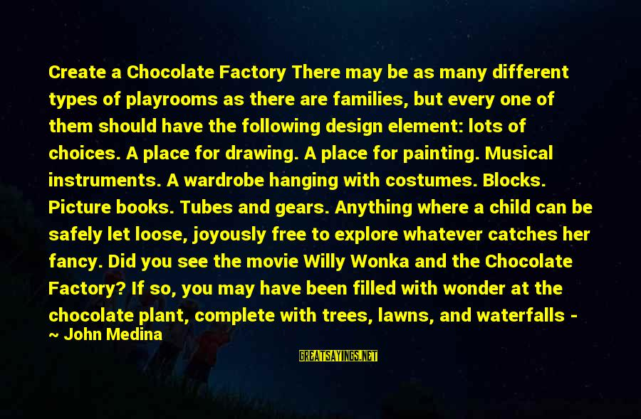 All Types Of Picture Sayings By John Medina: Create a Chocolate Factory There may be as many different types of playrooms as there