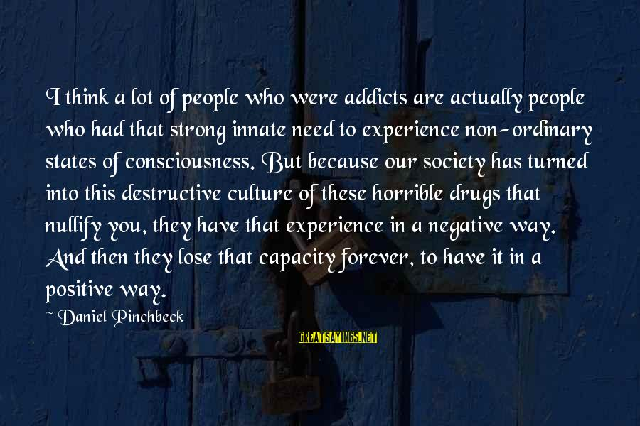 Ally Mcbeal Larry Paul Sayings By Daniel Pinchbeck: I think a lot of people who were addicts are actually people who had that
