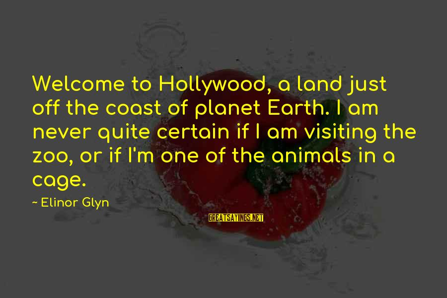 Animals In Zoos Sayings By Elinor Glyn: Welcome to Hollywood, a land just off the coast of planet Earth. I am never