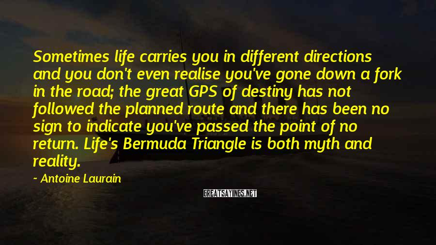 Antoine Laurain Sayings: Sometimes life carries you in different directions and you don't even realise you've gone down
