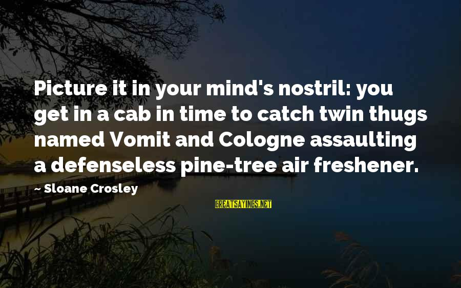 Assaulting Sayings By Sloane Crosley: Picture it in your mind's nostril: you get in a cab in time to catch