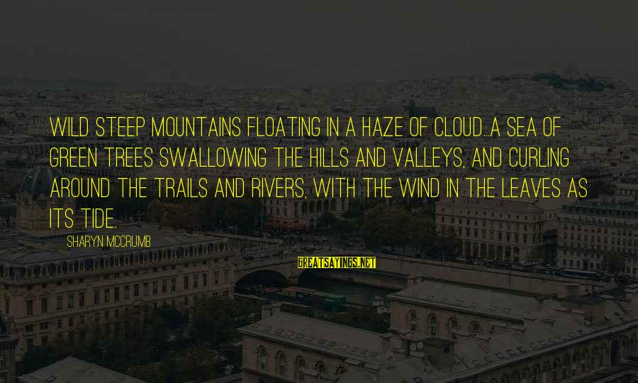 Ballad Sayings By Sharyn McCrumb: Wild steep mountains floating in a haze of cloud...a sea of green trees swallowing the