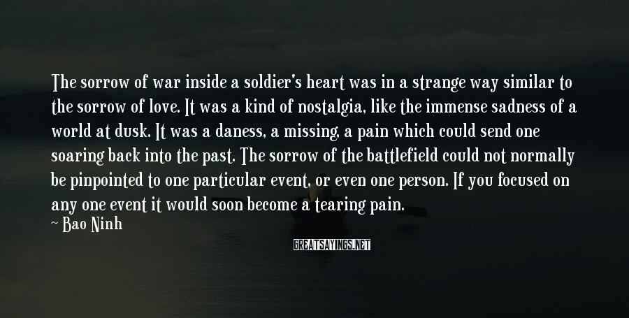 Bao Ninh Sayings: The sorrow of war inside a soldier's heart was in a strange way similar to