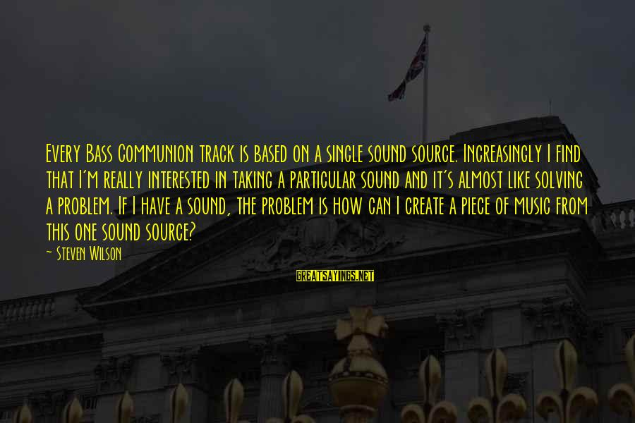 Bass'd Sayings By Steven Wilson: Every Bass Communion track is based on a single sound source. Increasingly I find that