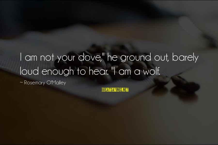 """Battle Cry Sayings By Rosemary O'Malley: I am not your dove,"""" he ground out, barely loud enough to hear. """"I am"""