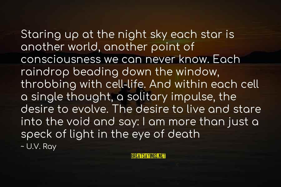 Beading Sayings By U.V. Ray: Staring up at the night sky each star is another world, another point of consciousness