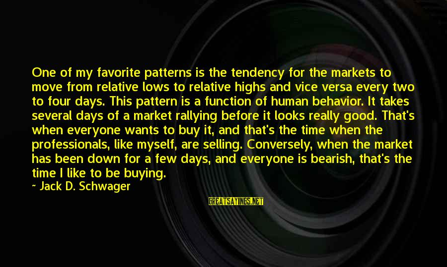 Bearish Market Sayings By Jack D. Schwager: One of my favorite patterns is the tendency for the markets to move from relative