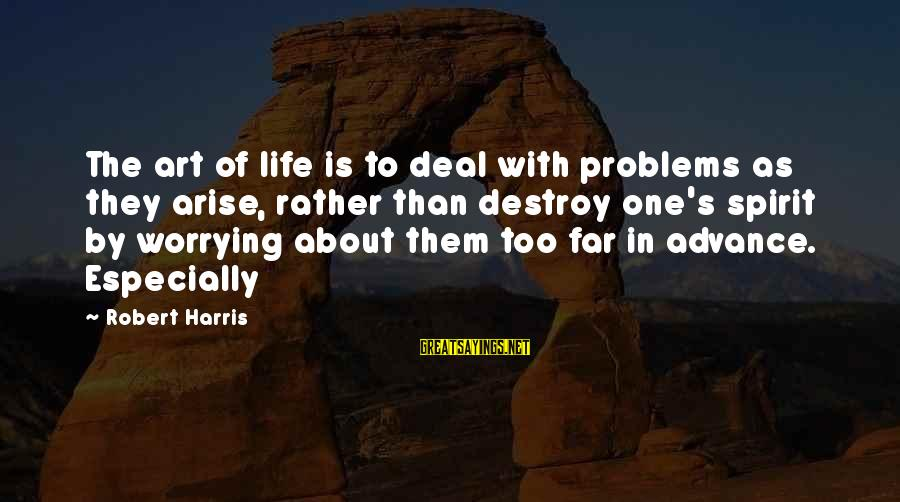 Being A Hillbilly Sayings By Robert Harris: The art of life is to deal with problems as they arise, rather than destroy