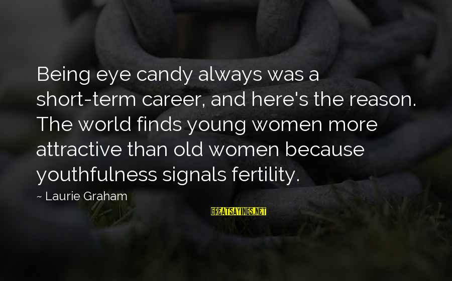 Being Attractive Sayings By Laurie Graham: Being eye candy always was a short-term career, and here's the reason. The world finds