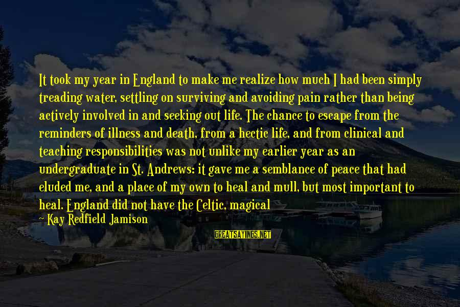 Being In Pain From Love Sayings By Kay Redfield Jamison: It took my year in England to make me realize how much I had been