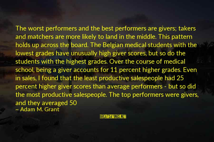 Being Over You Sayings By Adam M. Grant: The worst performers and the best performers are givers; takers and matchers are more likely