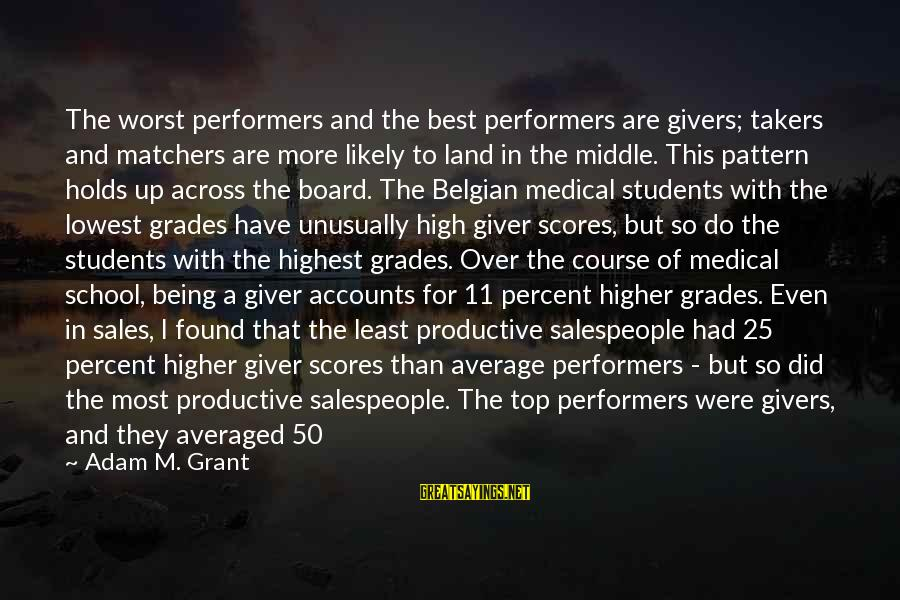 Belgian Sayings By Adam M. Grant: The worst performers and the best performers are givers; takers and matchers are more likely