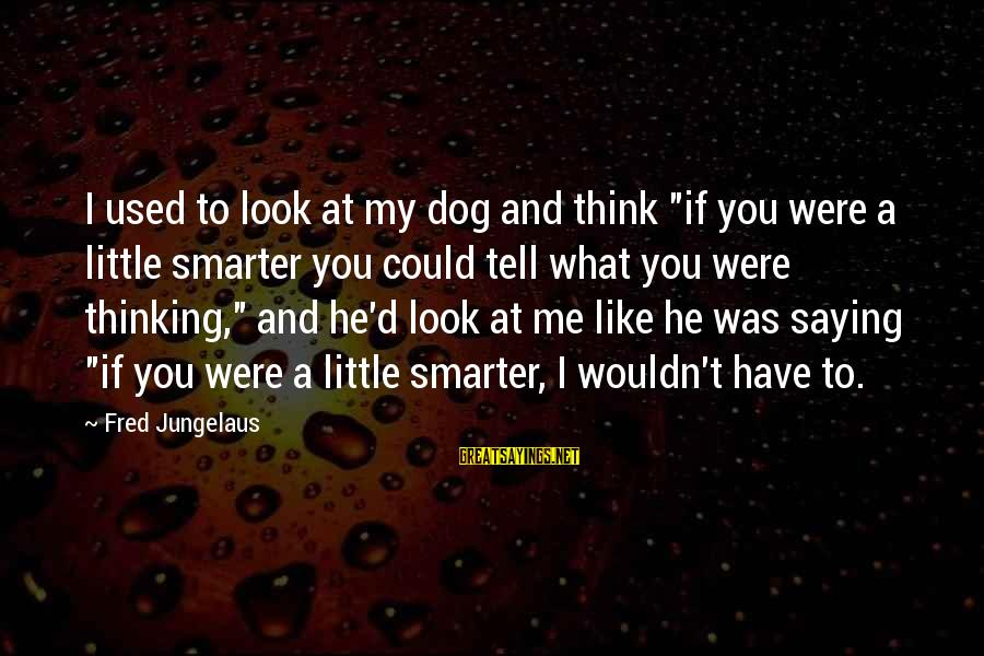 """Best Akuma Sayings By Fred Jungelaus: I used to look at my dog and think """"if you were a little smarter"""