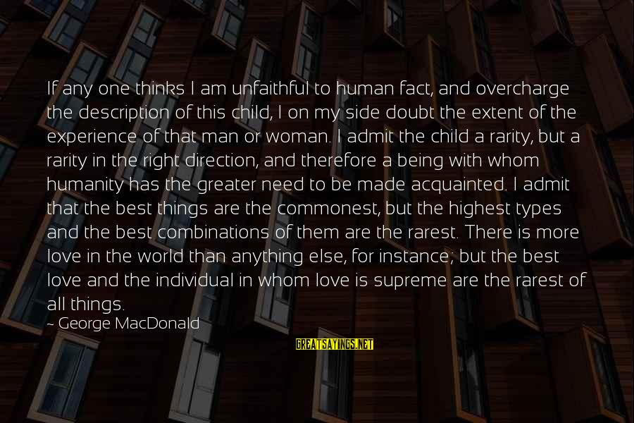 Best All Types Of Sayings By George MacDonald: If any one thinks I am unfaithful to human fact, and overcharge the description of
