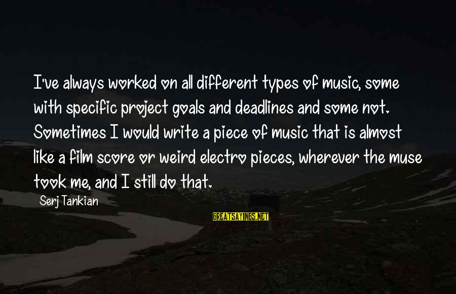 Best All Types Of Sayings By Serj Tankian: I've always worked on all different types of music, some with specific project goals and