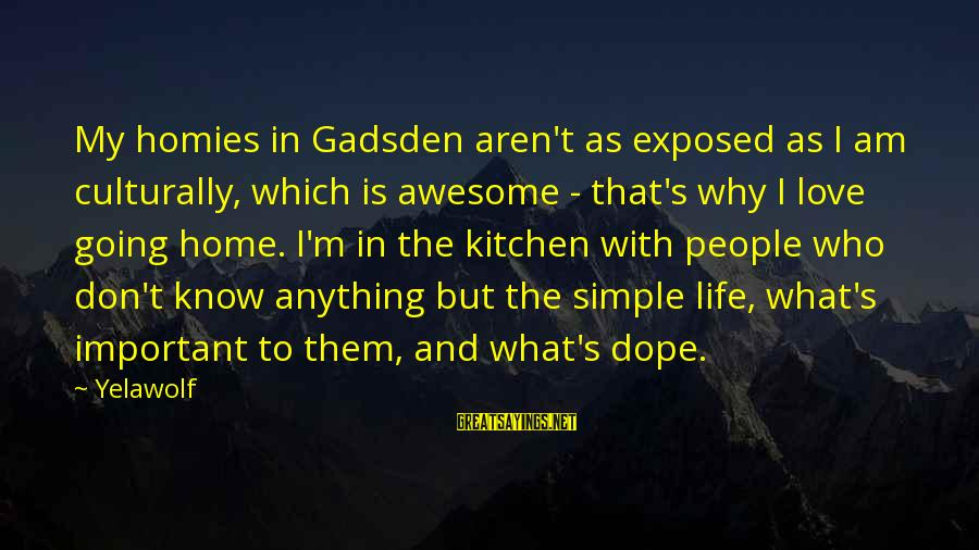 Best And Simple Love Sayings By Yelawolf: My homies in Gadsden aren't as exposed as I am culturally, which is awesome -