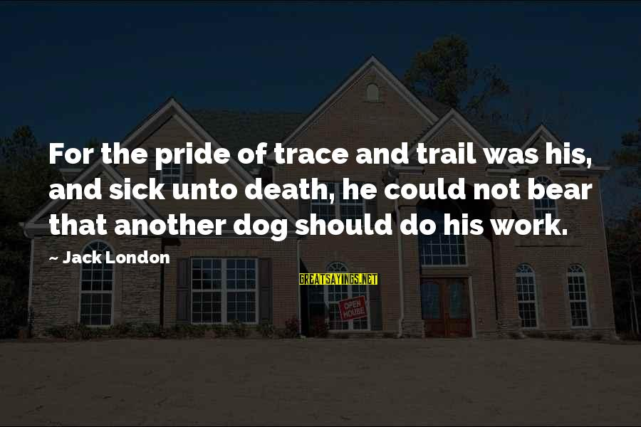 Best Dog Death Sayings By Jack London: For the pride of trace and trail was his, and sick unto death, he could