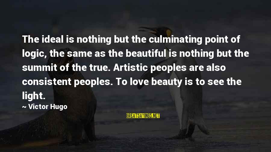 Best Jamiroquai Sayings By Victor Hugo: The ideal is nothing but the culminating point of logic, the same as the beautiful