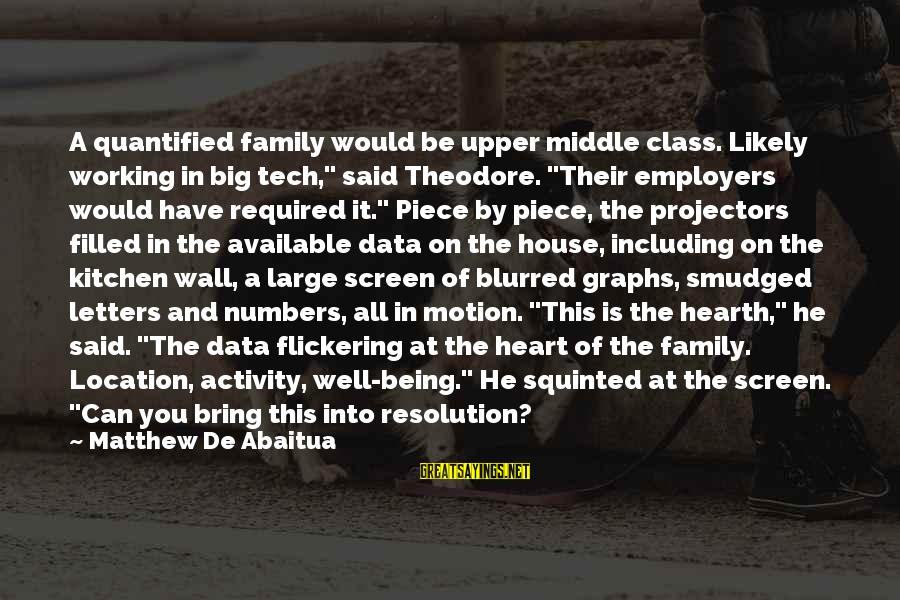 """Big Family Sayings By Matthew De Abaitua: A quantified family would be upper middle class. Likely working in big tech,"""" said Theodore."""