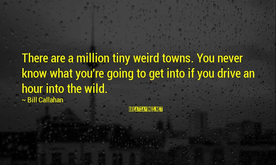 Bill Callahan Sayings By Bill Callahan: There are a million tiny weird towns. You never know what you're going to get