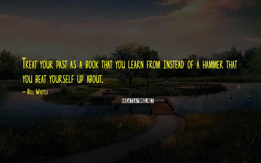 Bill Whittle Sayings: Treat your past as a book that you learn from instead of a hammer that