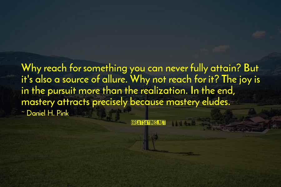 Brandon Prust Sayings By Daniel H. Pink: Why reach for something you can never fully attain? But it's also a source of
