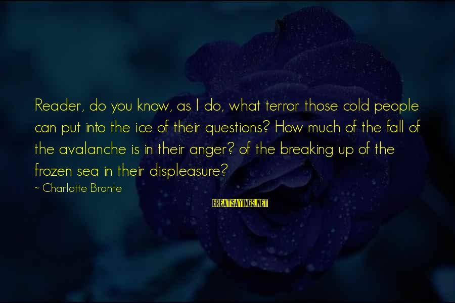 Breaking The Ice Sayings By Charlotte Bronte: Reader, do you know, as I do, what terror those cold people can put into