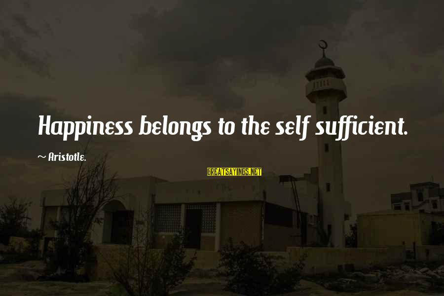 Breastfeed Mom Sayings By Aristotle.: Happiness belongs to the self sufficient.