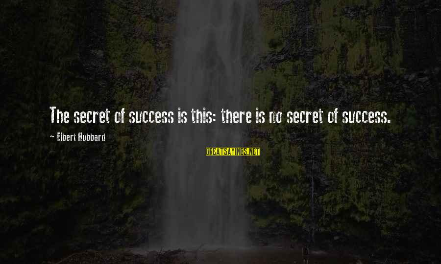 Britannica Sayings By Elbert Hubbard: The secret of success is this: there is no secret of success.