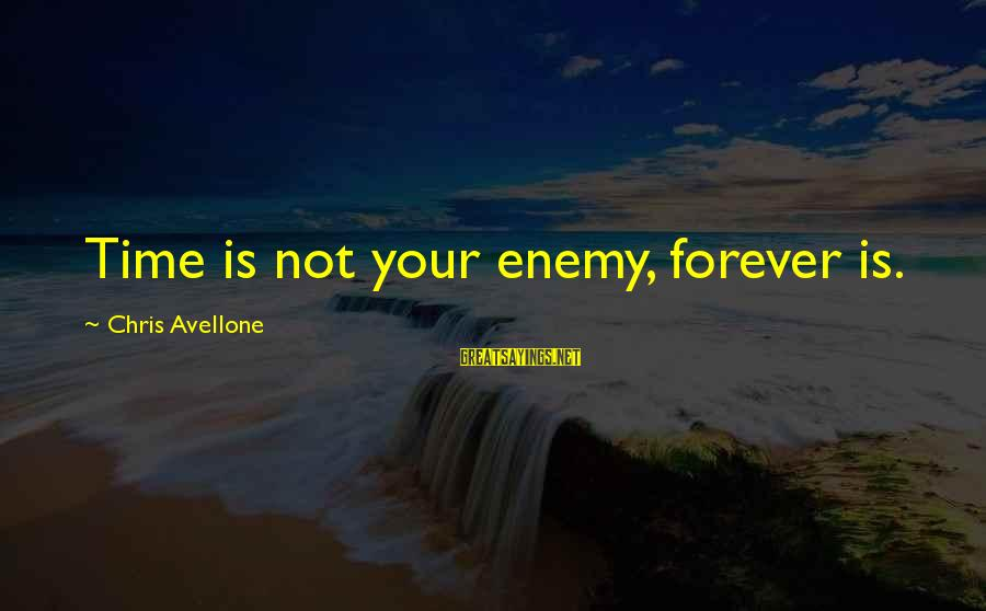 Bronx New York Sayings By Chris Avellone: Time is not your enemy, forever is.