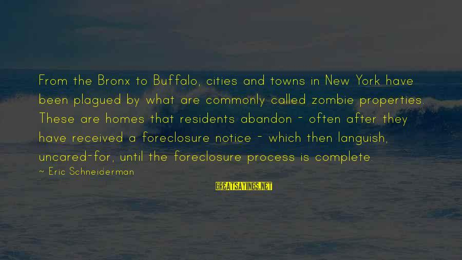 Bronx New York Sayings By Eric Schneiderman: From the Bronx to Buffalo, cities and towns in New York have been plagued by