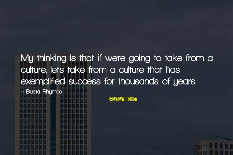 Busta Sayings By Busta Rhymes: My thinking is that if we're going to take from a culture, let's take from