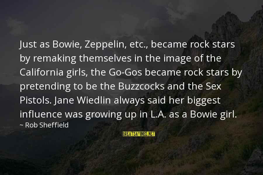 Buzzcocks Sayings By Rob Sheffield: Just as Bowie, Zeppelin, etc., became rock stars by remaking themselves in the image of