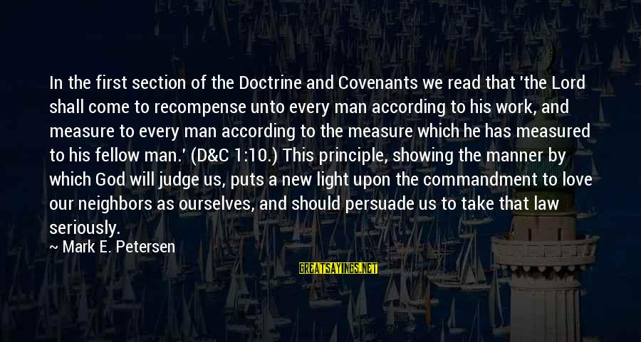 C.e. D'oh Sayings By Mark E. Petersen: In the first section of the Doctrine and Covenants we read that 'the Lord shall