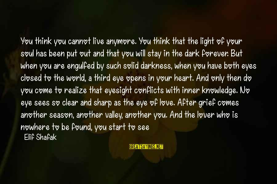 Can't Smile Anymore Sayings By Elif Shafak: You think you cannot live anymore. You think that the light of your soul has