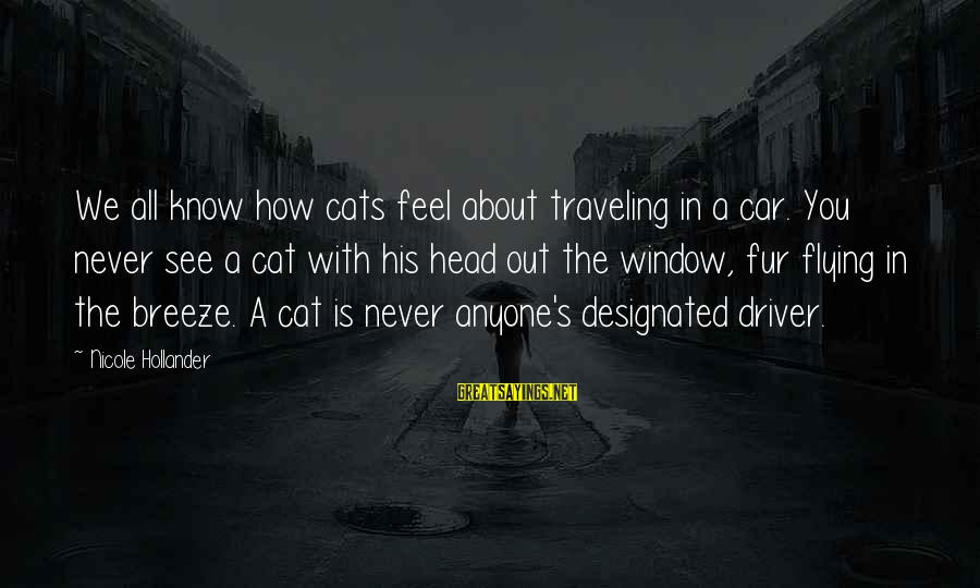 Car Driver Sayings By Nicole Hollander: We all know how cats feel about traveling in a car. You never see a